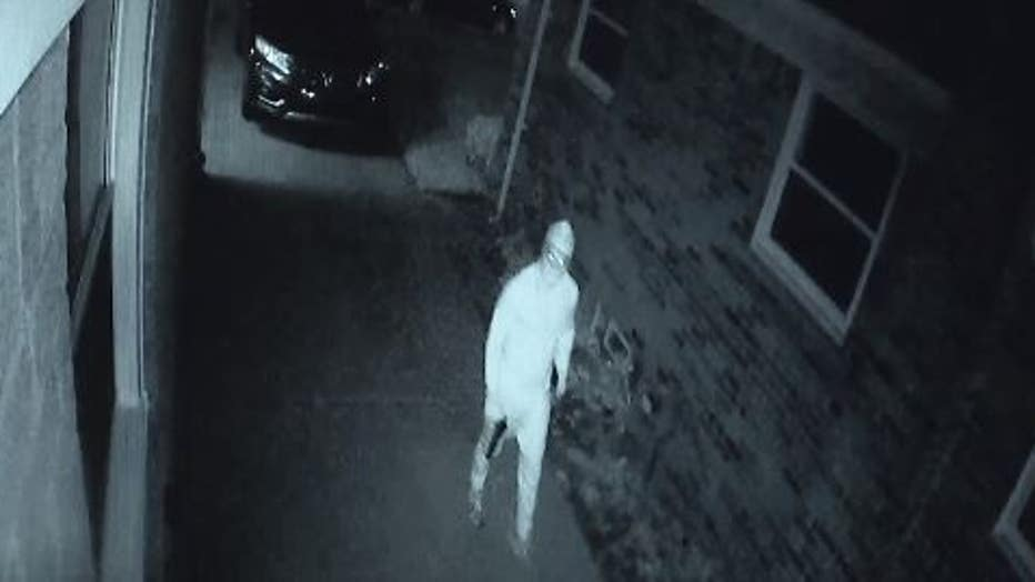 Video still of the suspect who shot at the Halls' home.