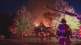 Huge house blaze rips through large home in Bloomfield Twp