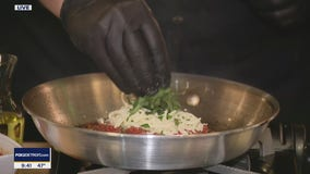 Making chicken parmesan with Cello Italian Restaurant in Howell