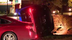 Detroit police car t-boned on east side Friday, two officers hospitalized