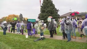 Nursing home workers at Westland facility walk off job in protest