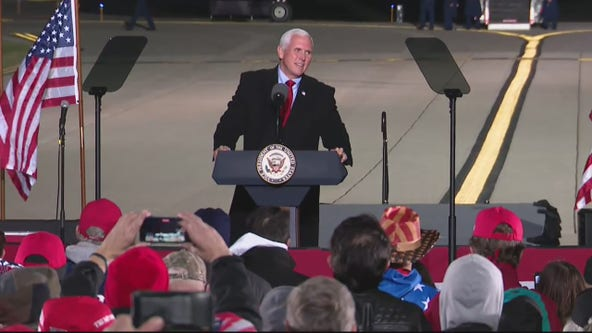 Vice President Mike Pence welcomed by crowd of 500 in Flint