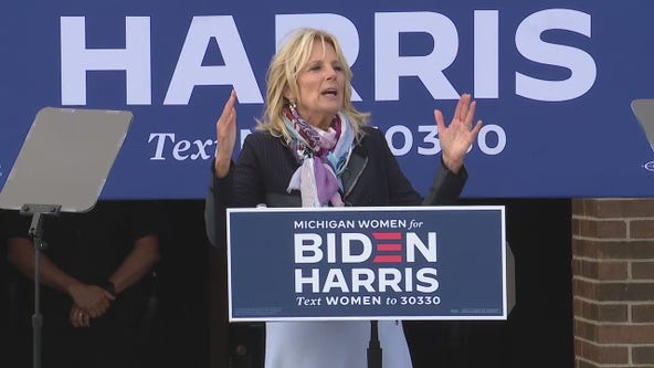 Dr. Jill Biden makes campaign stop in Madison Heights urging to get out the vote