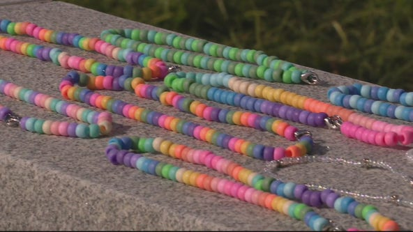 Woman creates decorative mask chains for kids, donates to Children's Hospital