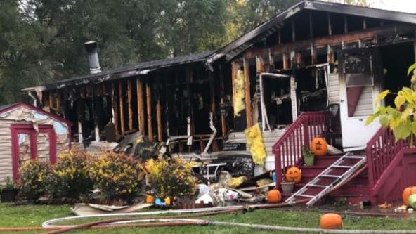 Man, 3-year-old hospitalized from mobile home fire that destroyed everything in Clinton Twp