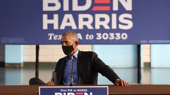 Barack Obama joining Joe Biden in Michigan at rally on Oct. 31