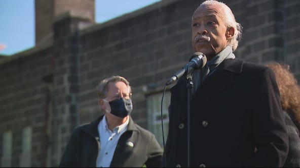 Rev. Al Sharpton joins stage at Sen. Gary Peters campaign rally in Detroit