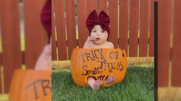 A pumpkin with a purpose: photo prop bringing strangers together in St. Clair Shores