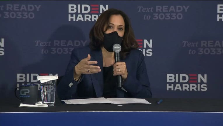 Kamala Harris holds roundtable session with Black business owners in Milwaukee