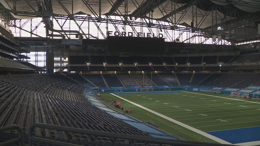 Detroit's Ford Field to hold election equipment