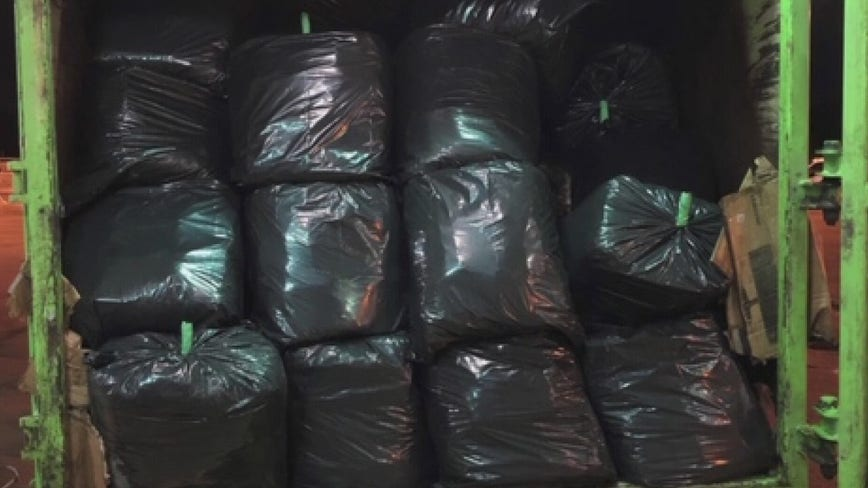 Garbage truck full of 1,000 lbs of pot busted at Blue Water Bridge by US customs officers