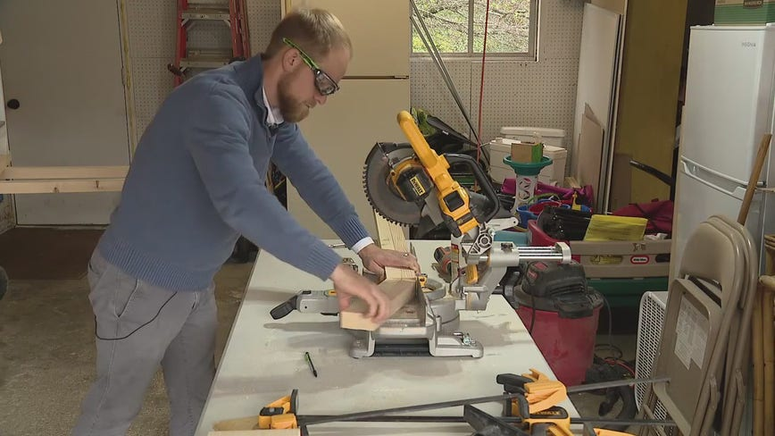 Clarkston man building free desks for students in need gets a hand from community