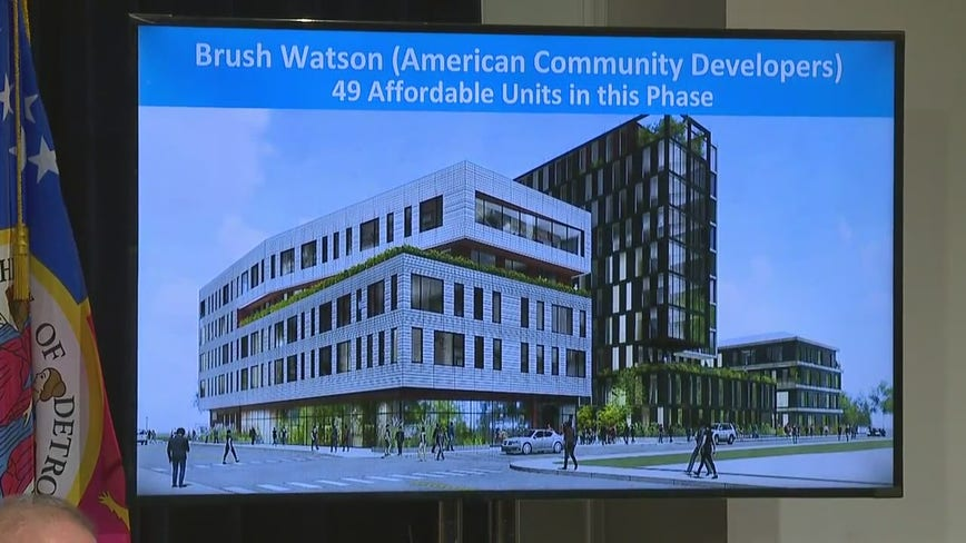 Detroit Mayor Mike Duggan five new affordable housing projects