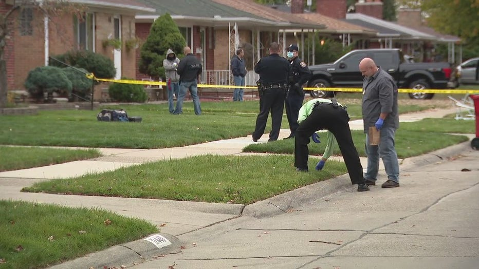 Eastpointe police gather evidence at the scene.