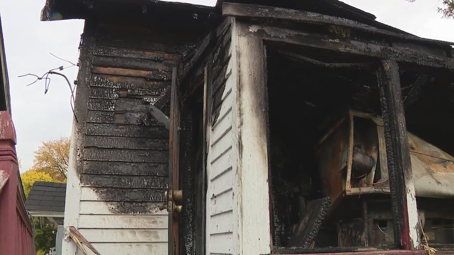 The Hills' rental house on the east side of Detroit was gutted from a fire.