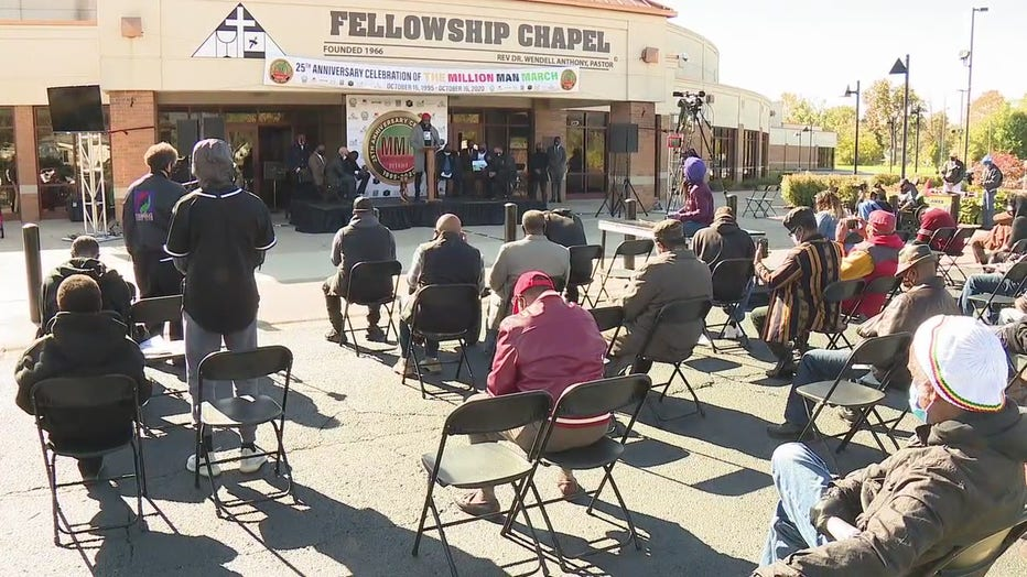 A celebration of the march's anniversary was held Friday at Fellowship Chapel Church in Detroit.