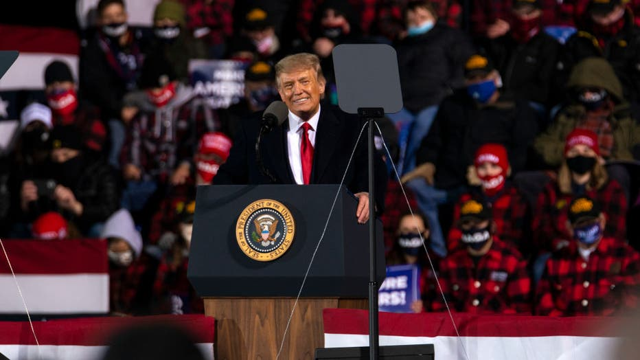 bf345fb4-Donald Trump Holds Campaign Event In Duluth, MN