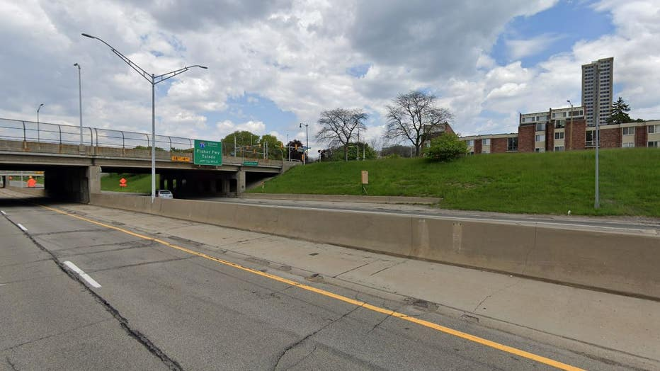 I-375 in downtown Detroit