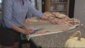 Jill of All Trades puts on new fabric in chair reupholstery project