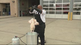 Avoid fire hazards when deep frying your turkey with these tips