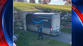 Amazon driver gets truck stuck in cart tunnel of Michigan golf course