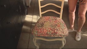 How to put on the new fabric when reupholstering chairs