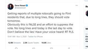 Michigan's Nessel and Benson warn of robo calls telling Flint residents to vote Wednesday