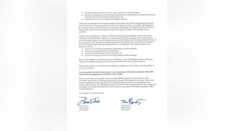 Senadores republicanos de Michigan solicitan auditoría electoral