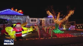 Vandals steal lights, break reindeer, yank down Santa's sleigh in northern California