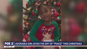Adorable girl gifts everyone a 'box of peace' this Christmas
