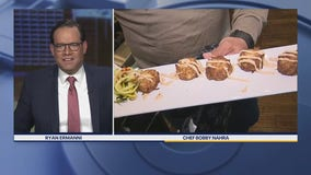 Chef Bobby makes his famous East Coast Crab Cakes