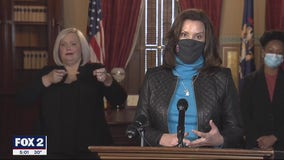 Whitmer holds COVID-19 press conference, she talked about extending unemployment, staying in on New Year's Eve