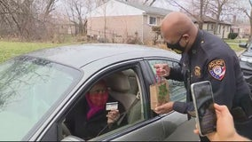 No speeding tickets, Inskter police give out gift cards instead