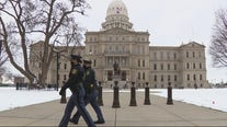 Police outnumber demonstrators in Lansing on inauguration day