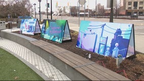 Beacon Park's Hum and Glow art installation is inspired by Detroit