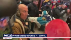 What can your employer do if you are seen in violent protests?