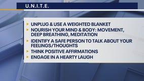 Dr. Sabrina's tips to U.N.I.T.E to cope with stress
