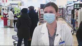 Customers receive Pfizer COVID-19 vaccine at Meijer stores