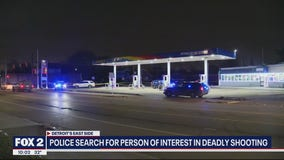 Person of interest wanted in connection to homicide investigation on Detroit's east side