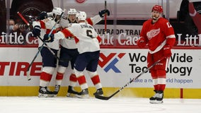 Heponiemi lifts Panthers to 3-2 win over Red Wings in debut