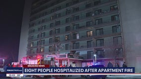 8 people hospitalized, 3 in critical condition after apartment fire in Detroit