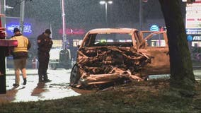 Police: 1 of 2 trucks ran red light in crash that killed driver, daughter