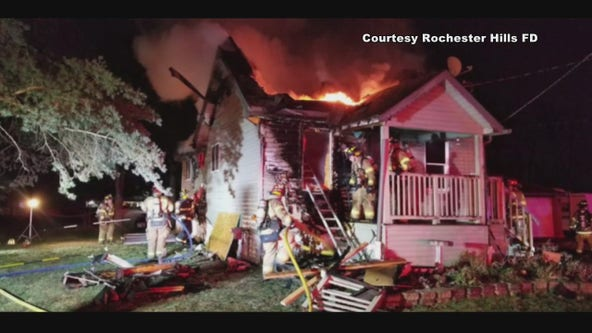 Home in Rochester Hills catches fire for the second time in a month