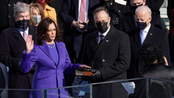 'Ready to serve': Kamala Harris sworn in as vice president in historic moment for America
