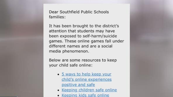 Southfield schools alert parents of online self-harm games making the rounds