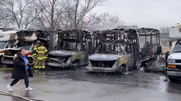 Fire torches 6 SMART buses in Westland, damaging pavement and property
