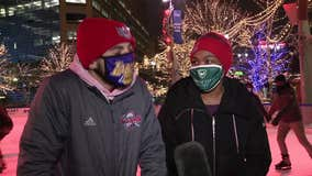 Love is in the air, couples celebrate Valentines Day at Campus Martius Park