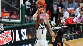 Michigan State ends 4-game skid with 66-56 win over Nebraska