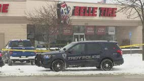 Troy Police investigate after man's body found covered in snow at Belle Tire