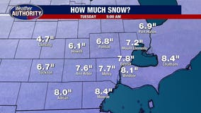 SE Michigan upgraded to Winter Storm Warning with new forecasts estimating 6-9 inches of snow